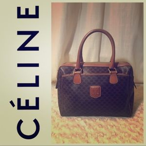 AUTH Céline Macadam Boston Bag